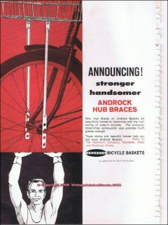 androck bicycle baskets 1966 washburn company hub braces vintage ad