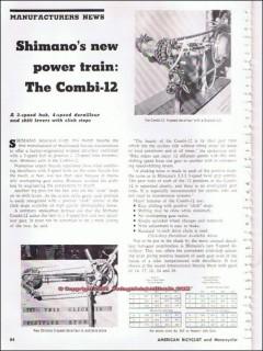 shimano american corp 1966 combi-12 speed derailleur vintage article