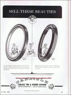carlisle tire rubber 1966 bicycle bike tires vintage ad