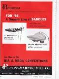 persons-majestic mfg company 1966 bike bicycle saddles vintage ad