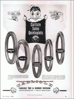 carlisle tire rubber 1966 sales quintuplets bicycle vintage ad