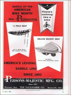 persons-majestic mfg company 1966 american bike month vintage ad