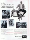 bendix corp 1966 bike brakes tested shoe-type-construction vintage ad