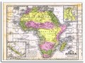 africa 1856 copper plate engraving mitchells atlas vintage map