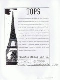 phoenix metal cap company 1938 eiffel tower screw glass vintage ad