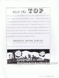 phoenix metal cap company 1938 battlefield miniature glass vintage ad