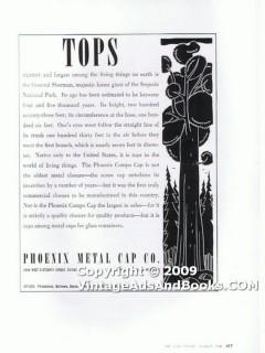 phoenix metal cap company 1938 sequoia screw top glass vintage ad