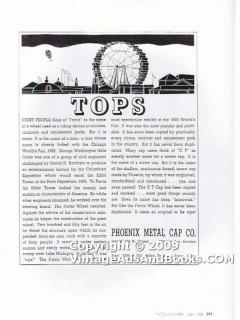 phoenix metal cap company 1938 ferris wheel screw top glass vintage ad