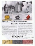 bakelite corp 1938 glass bottle style molded closure cap vintage ad
