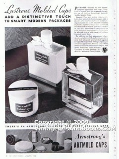 armstrong cork products company 1938 molded bottle caps vintage ad