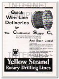 Broderick Bascom Rope Company 1934 Vintage Ad Oil Quick Wire Line