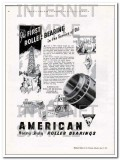 American Roller Bearing Company 1934 Vintage Ad Oil First Service