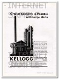 M W Kellogg Company 1934 Vintage Ad Oil Greater Economy Possible