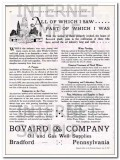 Bovaird Company 1934 Vintage Ad Oil Field Gas Well Supplies Equipment