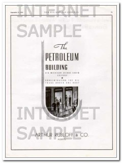 Arthur Rubloff Company 1934 Vintage Ad Chicago The Petroleum Building