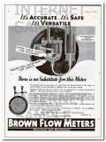 Brown Instrument Company 1934 Vintage Ad Flow Meter Accurate Versatile