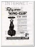 Lunkenheimer Company 1934 Vintage Ad Oil Field Gate Valve King-Clip