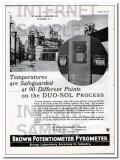 Brown Instrument Company 1934 Vintage Ad Oil Potentiometer Pyrometer