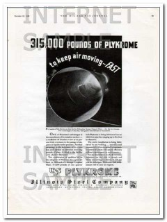 Illinois Steel Company 1934 Vintage Ad Oil Pipe Plykrome Stainless