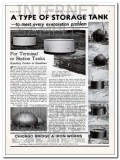 Chicago Bridge Iron Works 1934 Vintage Ad Oil Type Storage Tank