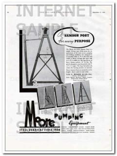 Lee C Moore Company 1934 Vintage Ad Oil Samson Post Pumping Equipment