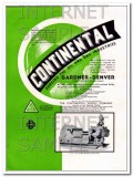 Continental Supply Company 1934 Vintage Ad Gardner-Denver Slush Pump