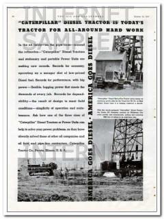 caterpillar tractor company 1934 diesel oil field tractors vintage ad