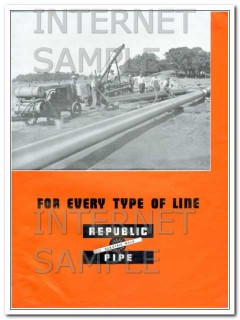 Republic Steel Corp 1934 Vintage Ad Oil Field Every Type Pipe Line