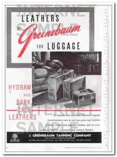 J Greenebaum Tanning Company 1950 Vintage Ad Leather Luggage Hydraw