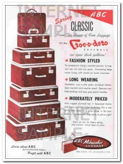 Abel Bach Inc 1950 Vintage Ad Luggage Spring Classic Milwaukee ABC