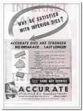 Accurate Steel Rule Die Manufacturers 1950 Vintage Ad Stronger