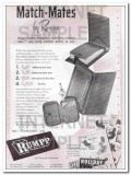 C F Rumpp Sons 1950 Vintage Ad Leather Wallet Key Case Match-Mates