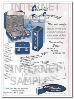 Abel Bach Inc 1950 Vintage Ad Luggage Colorful Travel Companions