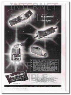 Progressive Leather Goods Company 1950 Vintage Ad Astronomical Sales