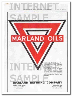 marland refining company 1921 good will is the foundation vintage ad