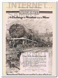 pennsylvania tank car company 1921 weather and wear vintage ad
