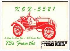 KOX-5521 John Crile Mabbton Georgia 1960s Vintage Postcard CB QSL Card