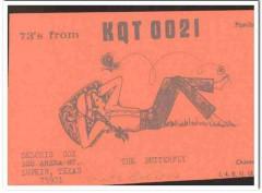 KQT-0021 Deloris Cox Lufkin Texas 1960s Vintage Postcard CB QSL Card 2
