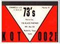 KQT-0021 Marvin Cox Woodville TX 1960s Vintage Postcard CB QSL Card 3