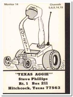 KQT-2517 Steve Phillips Hitchcock Texas 1960s Vintage Postcard CB QSL