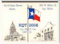 KQT-2666 Joe Brown Austin Texas 1960s Vintage Postcard CB QSL Card 1