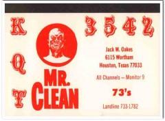 KQT-3542 Jack Oakes Houston Texas 1960s Vintage Postcard CB QSL Card