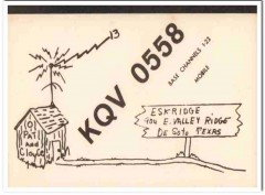 KQV-0558 Pat Eskridge Desoto Texas 1960s Vintage Postcard CB QSL Card