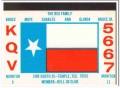 KQV-5667 Bruce Rea Temple Texas 1960s Vintage Postcard CB QSL Card 2