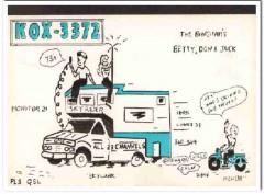 KOX-3372 Don Bingham Granada Hills CA 1960s Vintage Postcard CB QSL