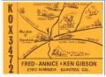KOX-3472 Fred Gibson Barstow CA 1960s Vintage Postcard CB QSL Card 1