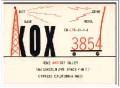 KOX-3854 Gene Gilley Cypress CA 1960s Vintage Postcard CB QSL Card 2