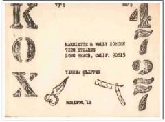 KOX-4727 Wally Kohorn Long Beach CA 1960s Vintage Postcard CB QSL