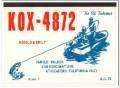 KOX-4872 Harold Walker Atascadero CA 1960s Vintage Postcard CB QSL 1