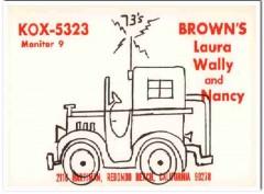 KOX-5323 Wally Brown Redondo Beach CA 1960s Vintage Postcard CB QSL
